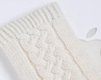 Hand Knit iPhone 6 Sock Cozy Case - Irish Aran