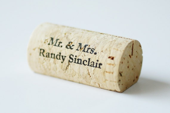 Personalized Wine Cork Place Card Holders, Set of 100