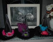 Custom Listing for DEAWN . Funky Custom Adult Witch Hat for Halloween