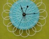 """doily clock - 6"""" retro wall clock"""