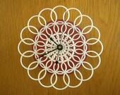 doily clock - small retro wall clock