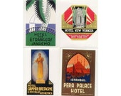 GRAND HOTELS - 20 Retro Luggage Labels Stickers - Golden Age of Travel