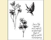 Tim Holtz Stamp Set - Nature's Moments - CMS001