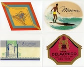 AMERICAN CITIES - 20 Hotels Retro Luggage Labels Stickers -  Travel