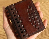Vintage Leather Journal - Embossed Brown Miniature