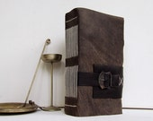 Leather Journal with Belt, Antiqued Look