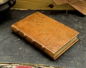 Handmade Leather Journal / Blank Book, Antiqued Brown Leather