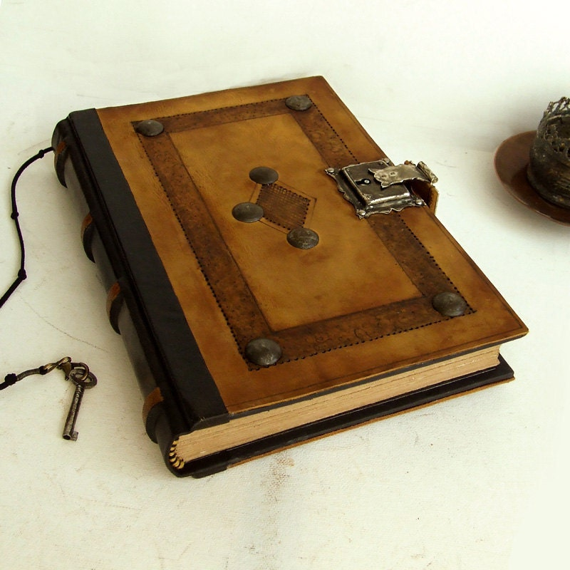 Old Leather Journal With Key Leather Journal with L...