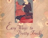 1928 Clark's Threads Vintage Sewing Instructional Booklet for Pretty Frocks