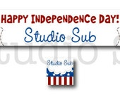 Premade Independence Day Banner and Avatar Etsy Shop Set