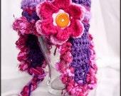 Purple Beanie Hat, Purple Baby Hat, Baby Winter Hat, Warm Baby Hat, Cute Baby Hat, Crochet Baby Hat, Baby Hat with Flower, Purple Hat