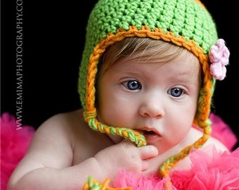 PDF Pattern Crochet Baby Hat DIY Earflap Hat for your Baby