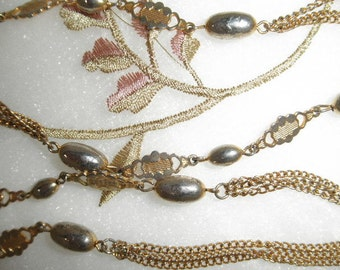 Vintage Goldtone Chain Necklace, Oval Beads and More