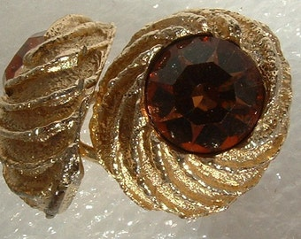Vintage Men's Jewelry - Topaz Rhinestone Cuff Links