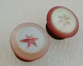 Vintage Men's Jewelry - Mother of Pearl Pink-Tinted Cuff Buttons