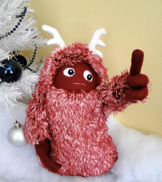 Red Horned Yeti Plushie