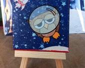 Astro Abe. 3x3 inch mini canvas