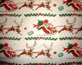 Vintage Old Store Stock Christmas Wrapping Paper by the Yard