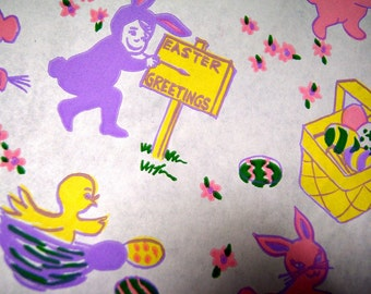 Vintage Easter Wrapping Paper by the Yard