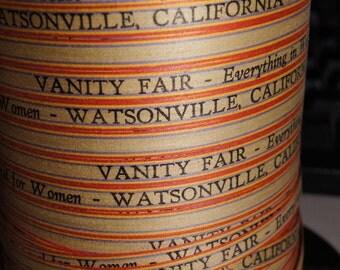 Fabulous Vintage Paper Advertising  Ribbon String....Vanity Fair