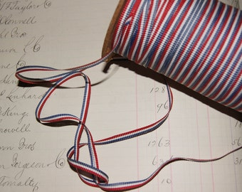 Antique Vintage RWB Red White Blue Patriotic Ribbon