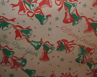 Vintage Christmas Wrapping Paper by The Yard