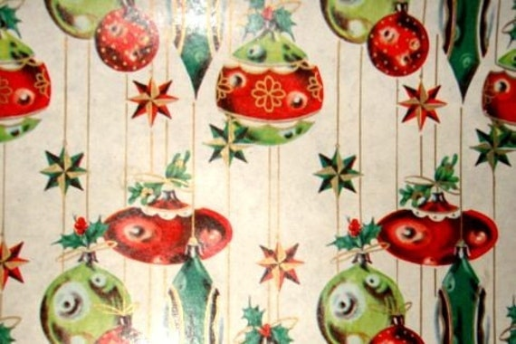 Vintage Christmas Wrapping Paper by The Yard by EdgarandEdgar