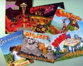 Disaster Tourism Postcard Set