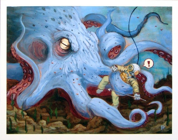 giant octopus attacks man - photo #20