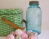 Vintage 2 Liter Ball Perfect Mason Jar, Blue, Zinc Lid