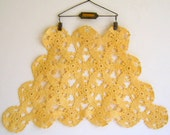 Vintage Cream Color Crocheted Doiley by RollingHillsVintage on Etsy
