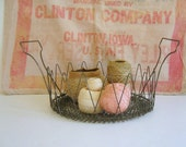 Vintage Collapsible Wire Basket by RollingHillsVintage on Etsy