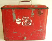 Vintage Coca Cola Cooler Picnic Chest by RollingHillsVintage on Etsy