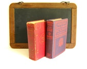 Antique Dictionary Pair 1920s Shabby Rustic Farmhouse Decor by RollingHillsVintage on Etsy