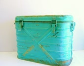 Vintage Mermite Cooler Turquoise 1960s Army Surplus