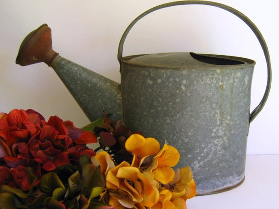 how to clean galvanized metal watering can
