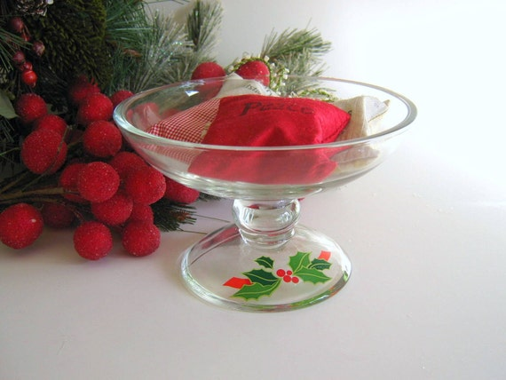 Vintage Avon Compote 1981 Avon Christmas Home Decor Christmas in July Sale 15% Off