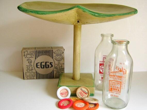Antique Wooden  Milking Stool, c. 1944