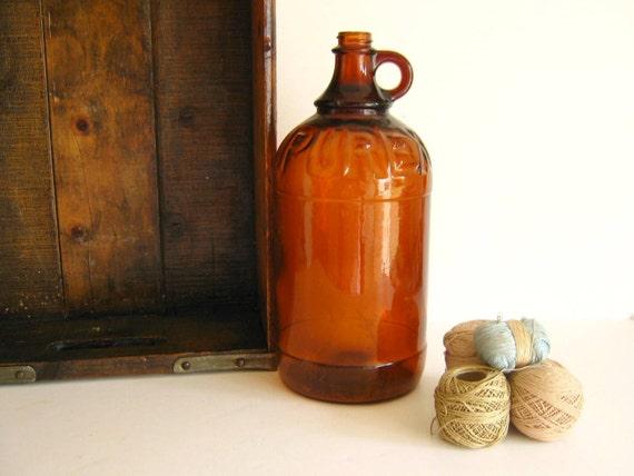 Purex Bleach Bottle Jug Amber Antique 1930s Autumn Home