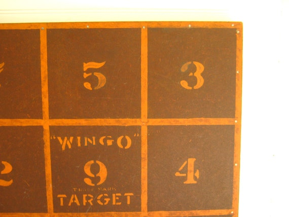 Antique Dart Game Wingo Board 1936