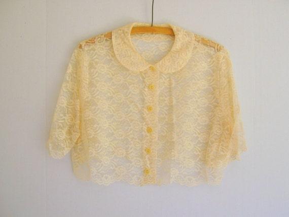 Lace Jacket 1940s Antique Wedding Attire