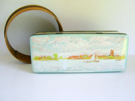 Vintage Tin Nautical Seascape from The Netherlands