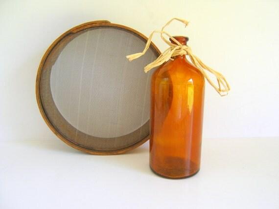 Amber Clorox Bleach Bottle 1930s