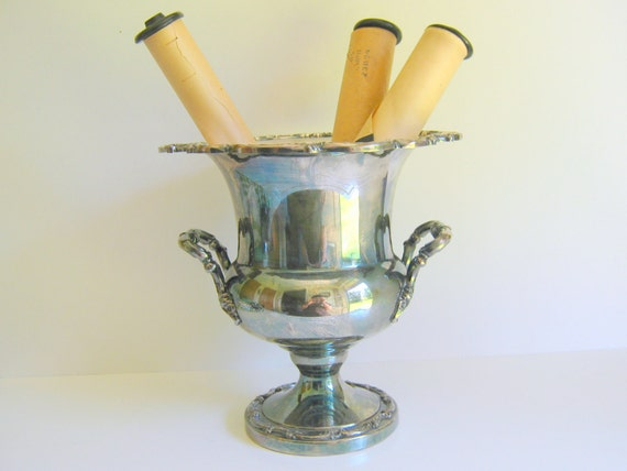 Vintage Silver Plated Champagne Chiller Metallic