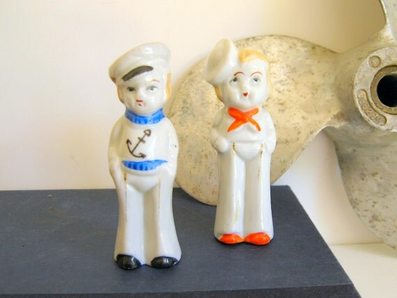 Reserved for Jenny Nautical Sailor Figurines Vintage Made in Japan