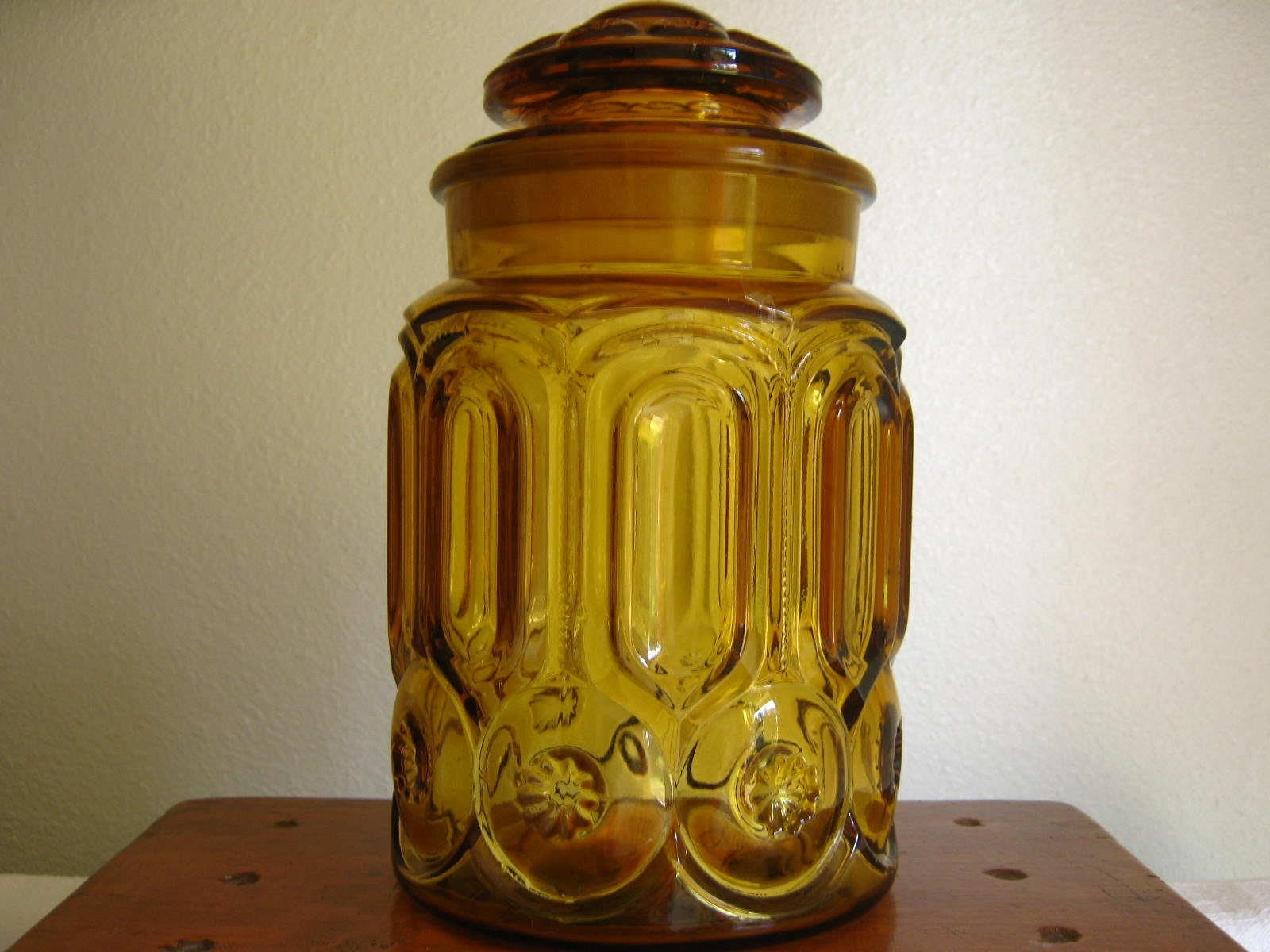 Amber Glass Apothecary Jar Or Canister By Rollinghillsvintage