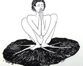Prayer Squat - Yoga Art
