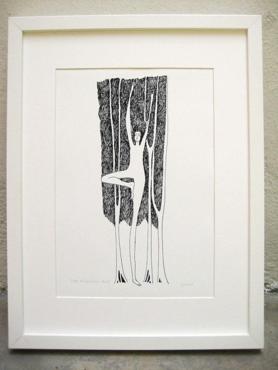 Tree - Vrikshasana - Yoga Art