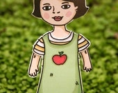 Paper Doll set - Summer Fun theme - Play dress up with fashion accessories for children