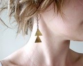 Triangulation Earrings - double triangle - tribal - geometric chevron - By Corrieberry Pie